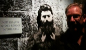 Wegner with Ned Kelly
