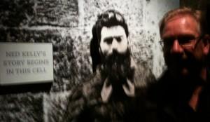 Wegner with Ned Kelly
